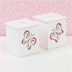 Jogo de Potes Butterfly Rosa