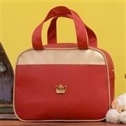 Conjunto de Bolsas Maternidade Vermelho e Dourado