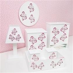 Kit Higiene Completo Butterfly Rosa