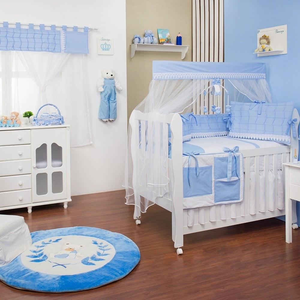 Quarto para Bebê sem Cama Babá Luxo Azul