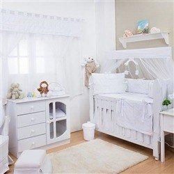 Quarto para Bebê sem Cama Babá Luxo Branco
