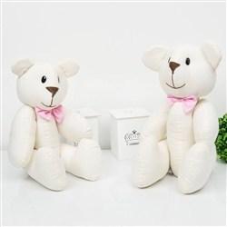 Ursos Gravata Rosa Babi