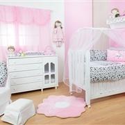 Quarto para Bebê sem Cama Babá Pink Rock