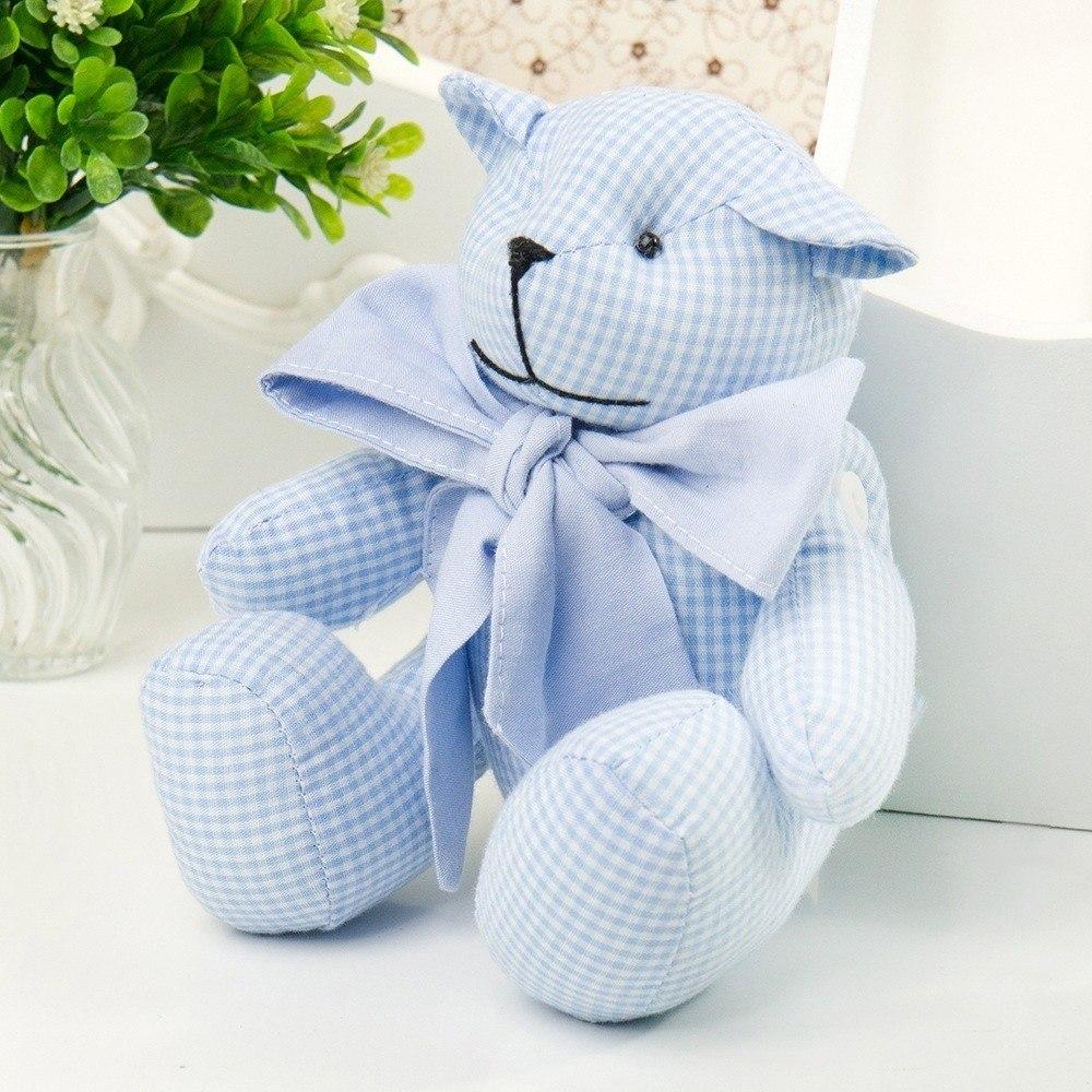 Urso P Chambrê Azul Xadrez