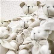 Família Ursos Chambrê Bege e Xadrez