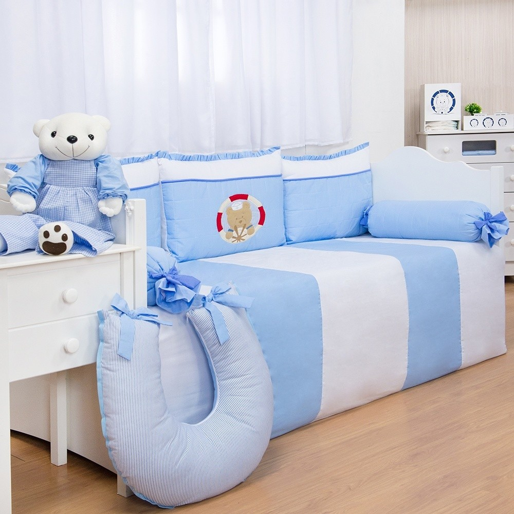 Kit Cama Babá Marinheiro Azul