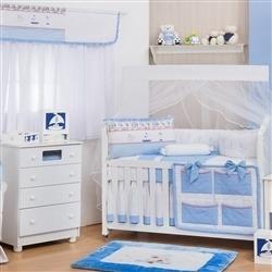 Quarto para Bebê sem Cama Babá Náutico Azul