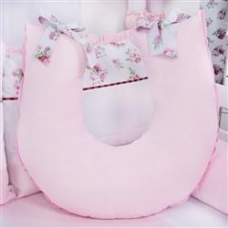 Almofada para Amamentação Floral Rosa