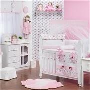 Quarto para Bebê sem Cama Babá Floral Rosa