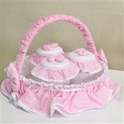 Quarto para Bebê sem Cama Babá Urso Real Rosa