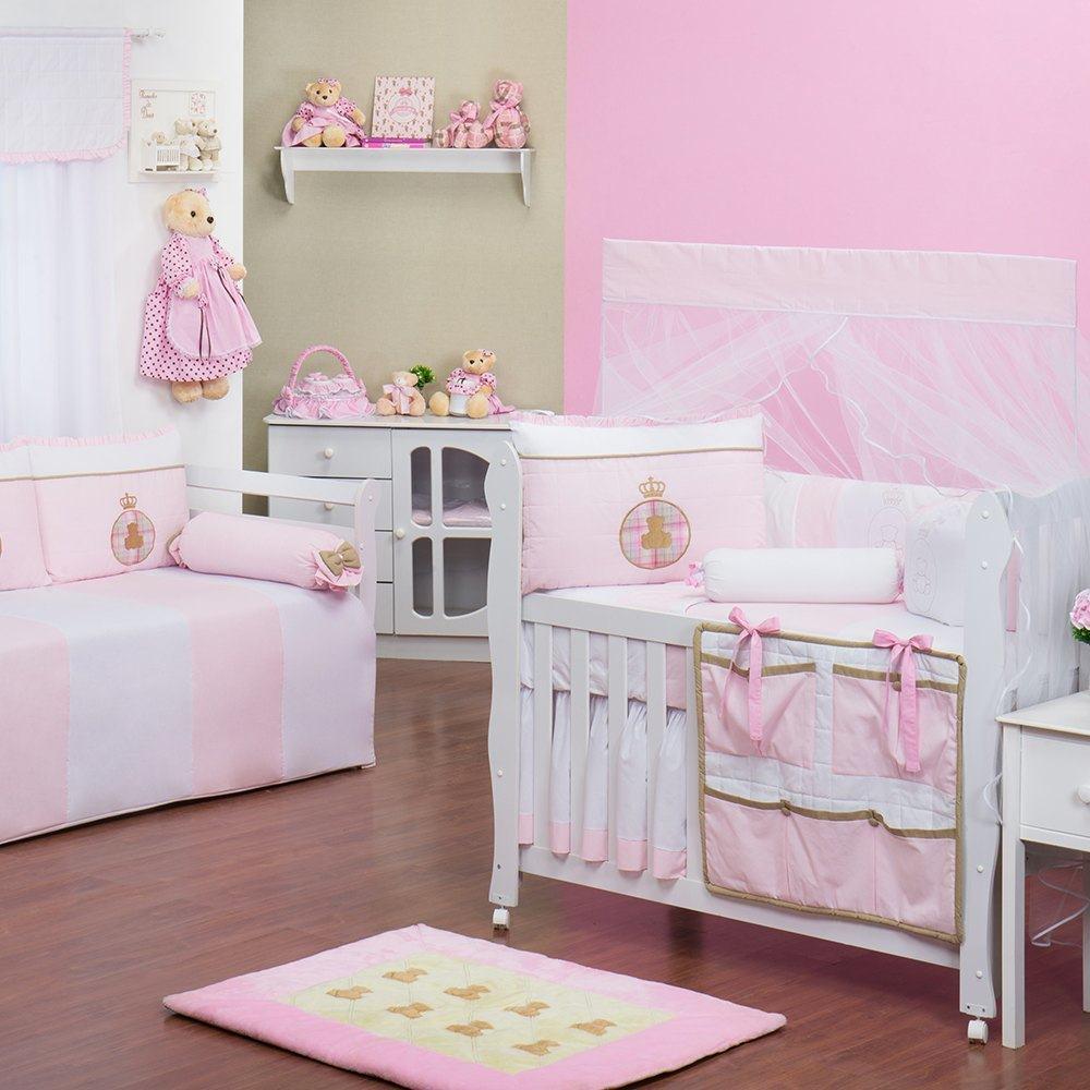 Quarto para Bebê Urso Real Rosa