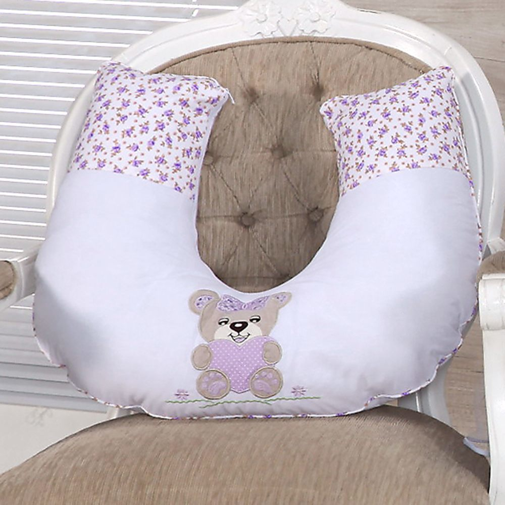 Almofada para Amamentação Ursinha Lilás