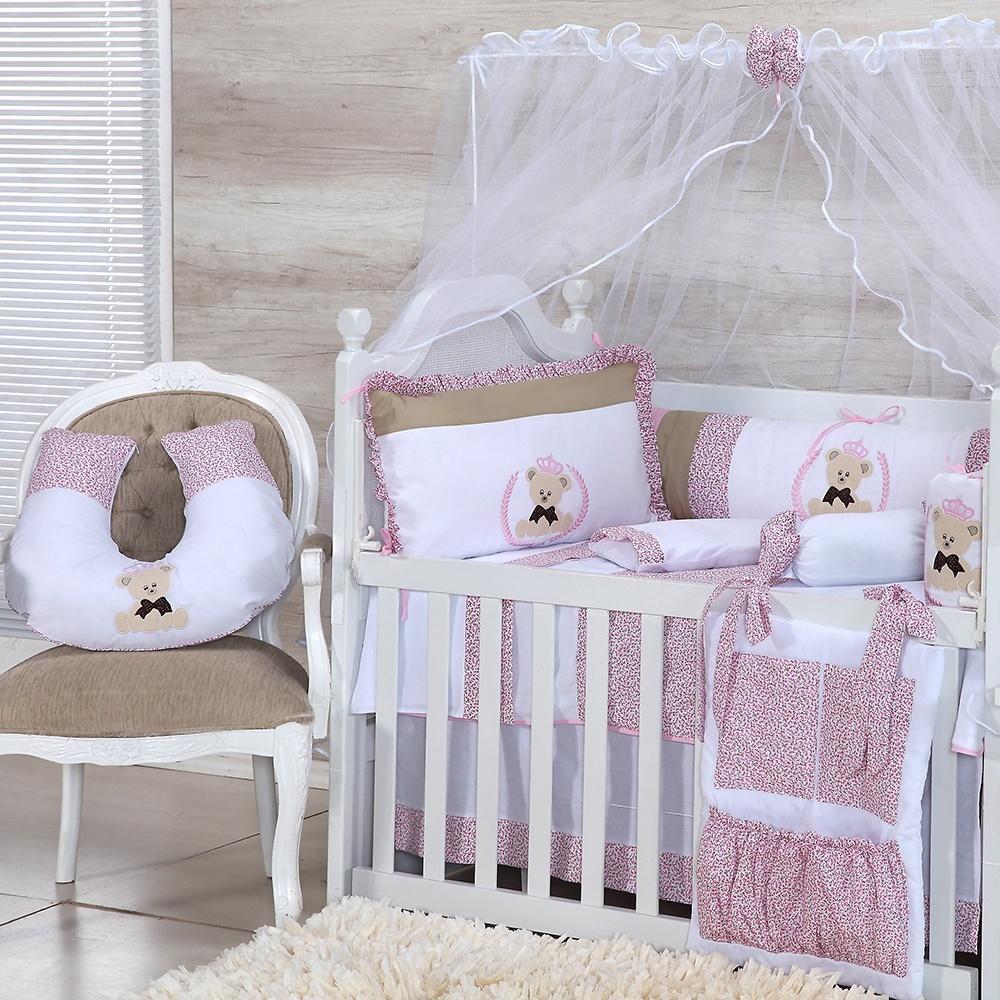 Quarto para Bebê sem Cama Babá Ursinha Rosa