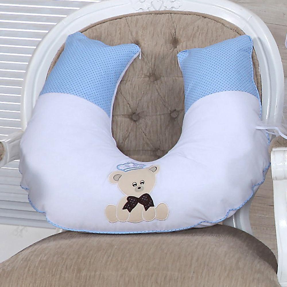 Almofada para Amamentação Ursinho Azul