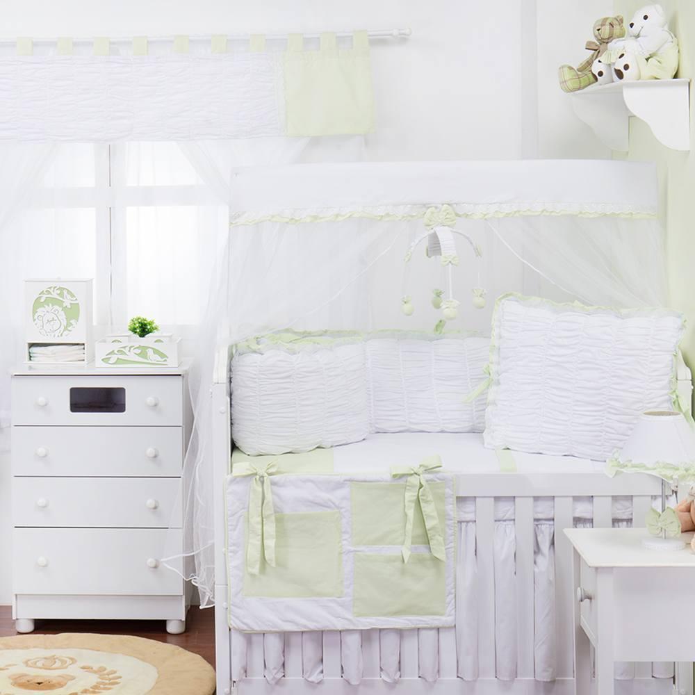 Quarto para Bebê sem Cama Babá Dengo Erva Doce