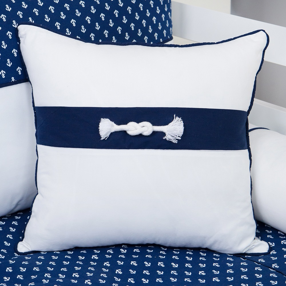 Almofada Decorativa Nó Blue Boat