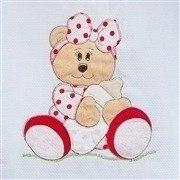 Kit Berço Ursa Baby Vermelha