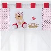 Cortina Ursa Baby Vermelha