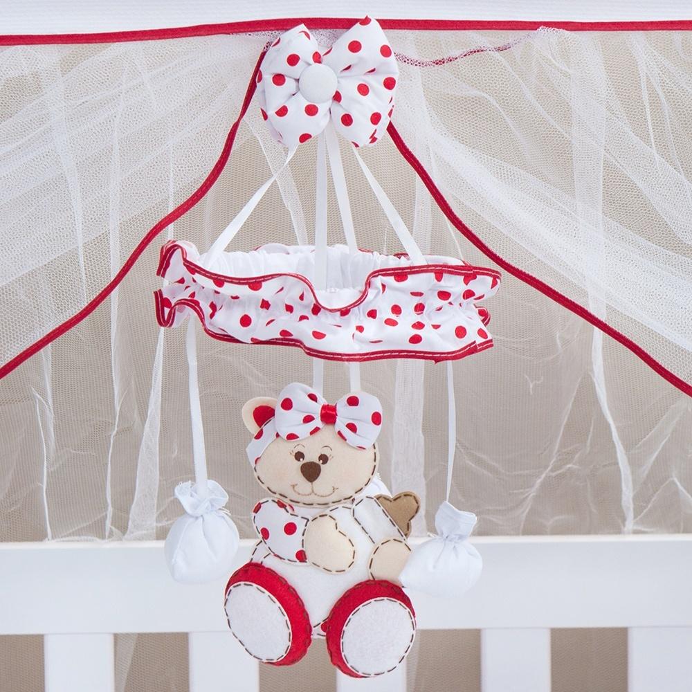Móbile Ursa Baby Vermelha