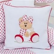 Almofadas Decorativas Ursa Baby Vermelha