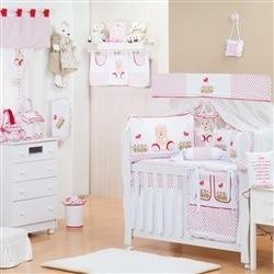 Quarto para Bebê sem Cama Babá Ursa Baby Vermelha