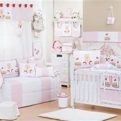 Quarto para Bebê Ursa Baby Vermelha