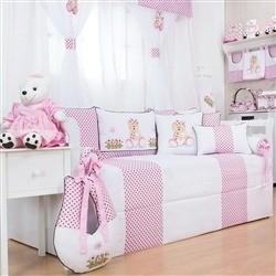 Kit Cama Babá Ursa Baby Rosa