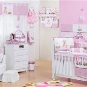 Quarto para Bebê sem Cama Babá Ursa Baby Rosa