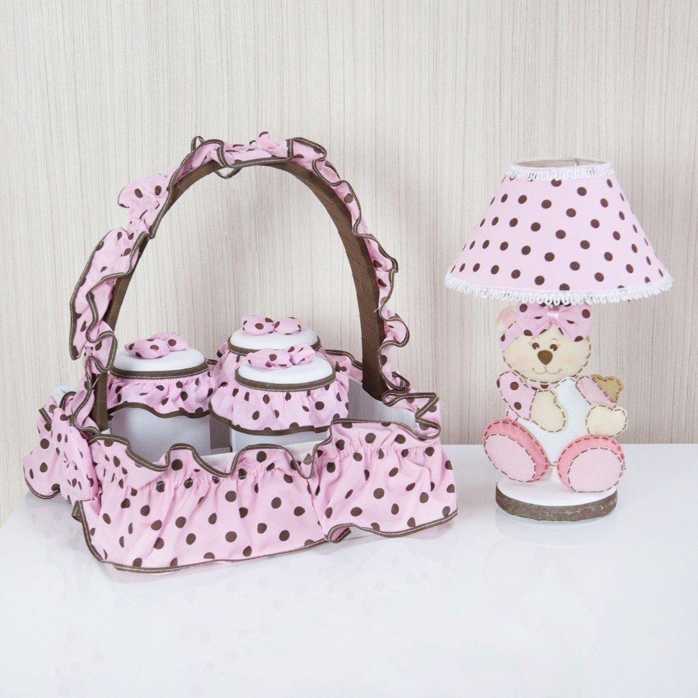 Kit Acessórios Ursa Baby Rosa