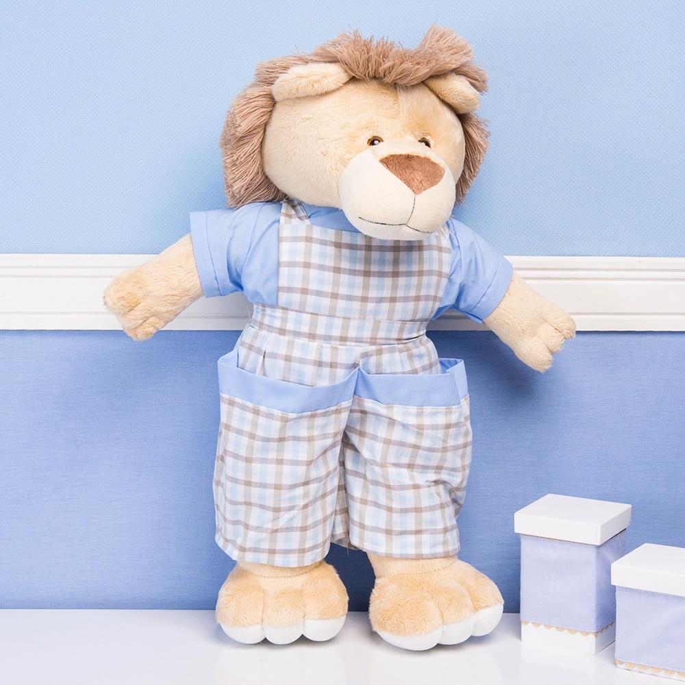 Porta Fraldas Leão Selva Baby Azul