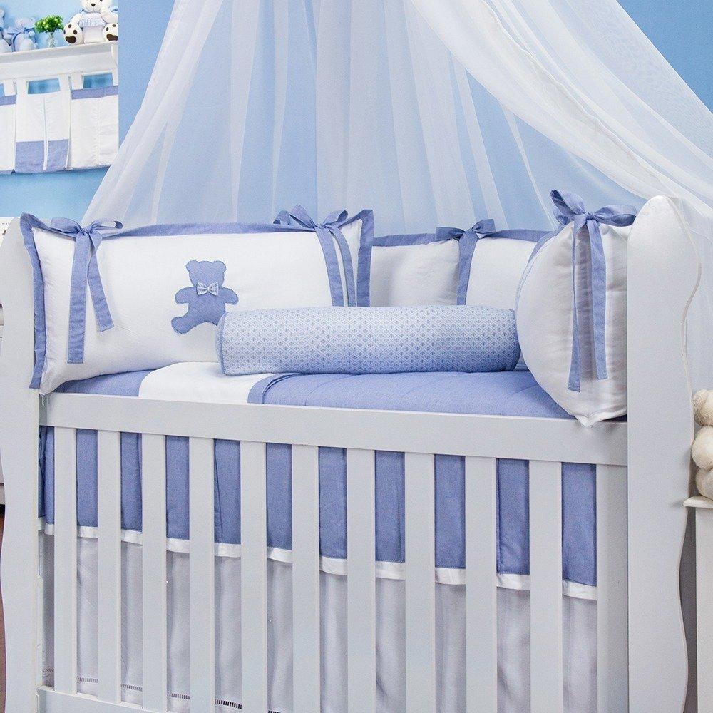 Kit Berço Sweet Bear Azul