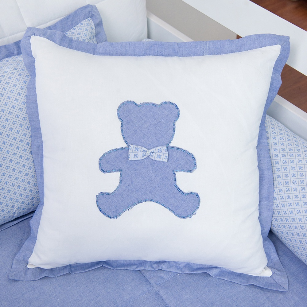 Almofada Decorativa Urso G Sweet Bear Azul