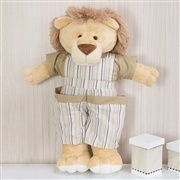 Porta Fraldas Leão Selva Baby Bege
