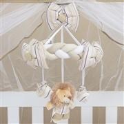 Quarto para Bebê Sem Cama Babá Selva Baby Bege