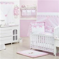 Quarto para Bebê sem Cama Babá Princesa Charlotte Rosa