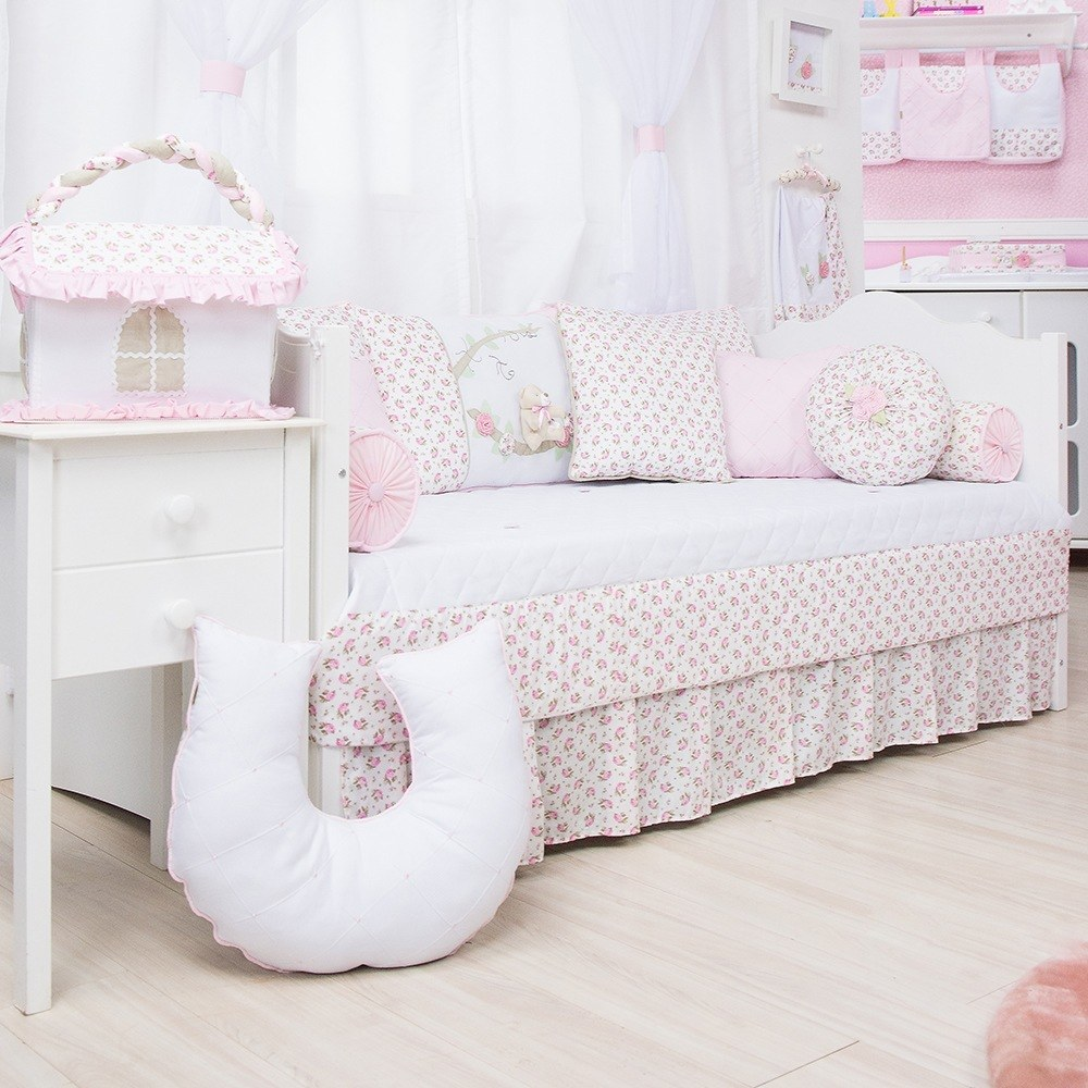 Kit Cama Babá Primavera Baby Rosa