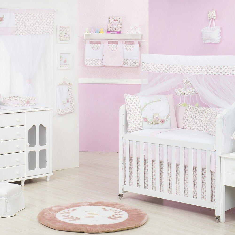 Quarto para Bebê Sem Cama Babá Primavera Baby Rosa