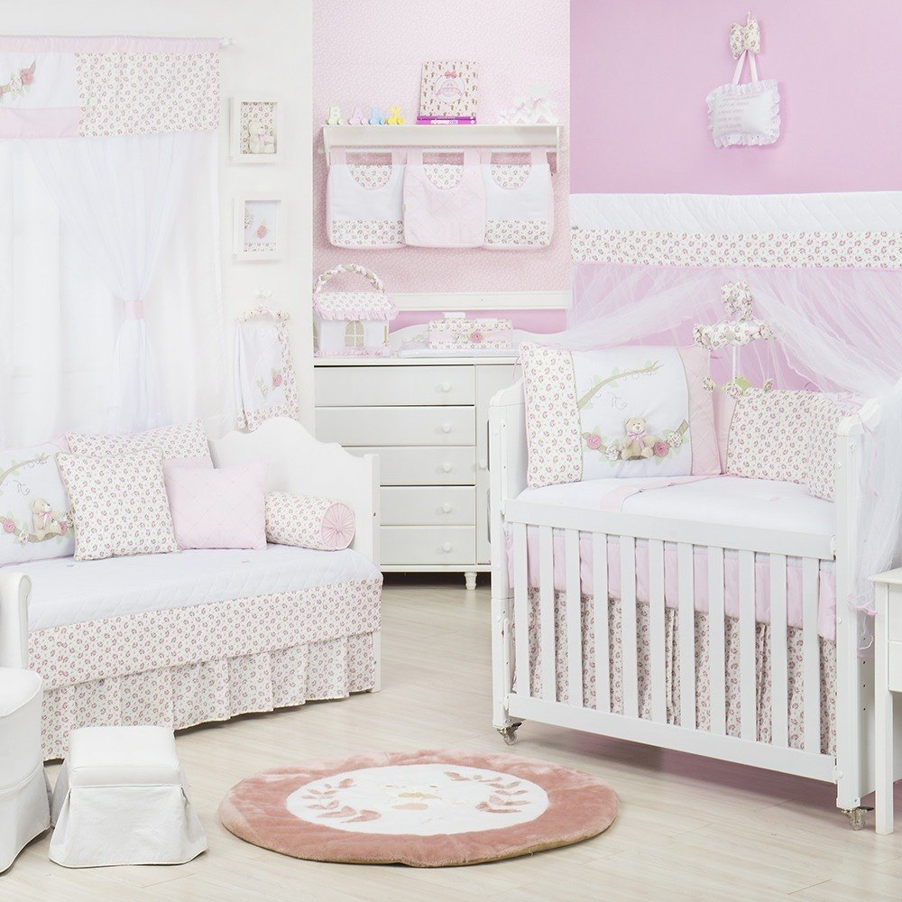Quarto para Bebê Primavera Baby Rosa