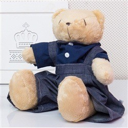 Urso Jardineiro Bege M