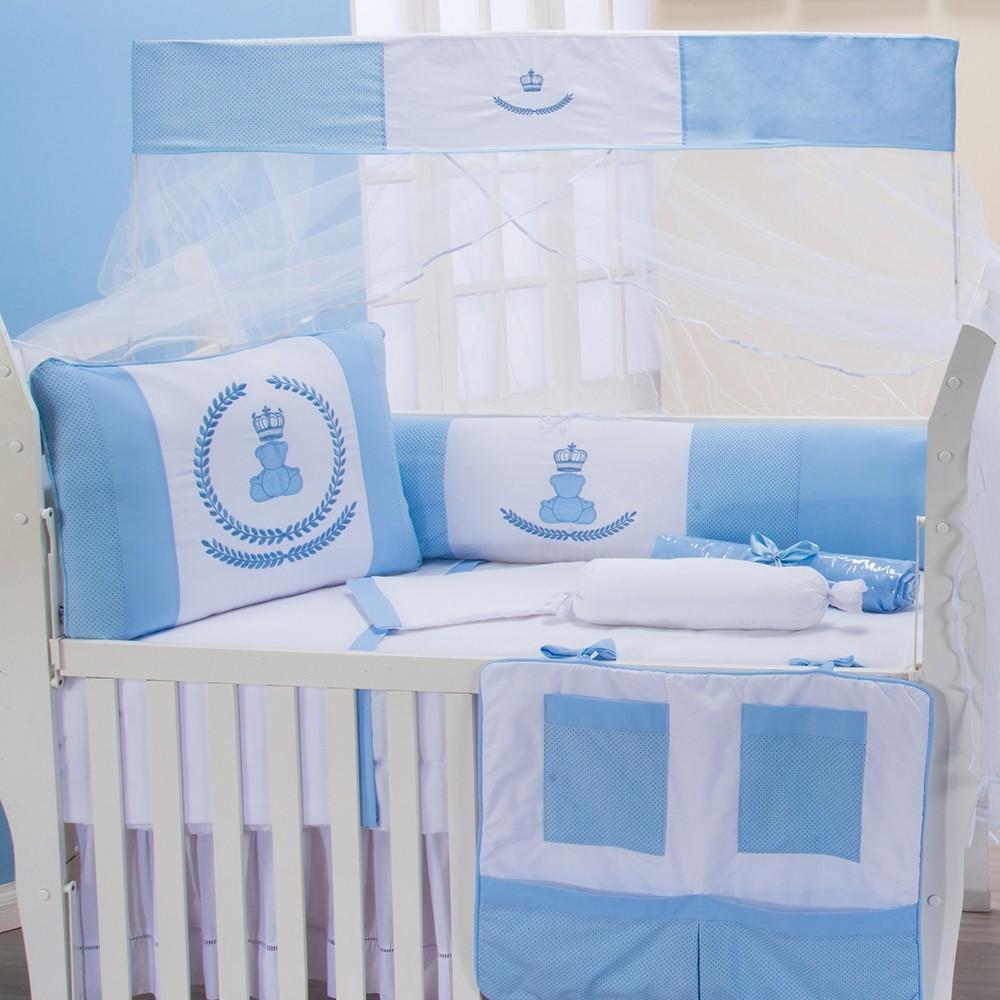 Kit Berço Império Azul Bebê