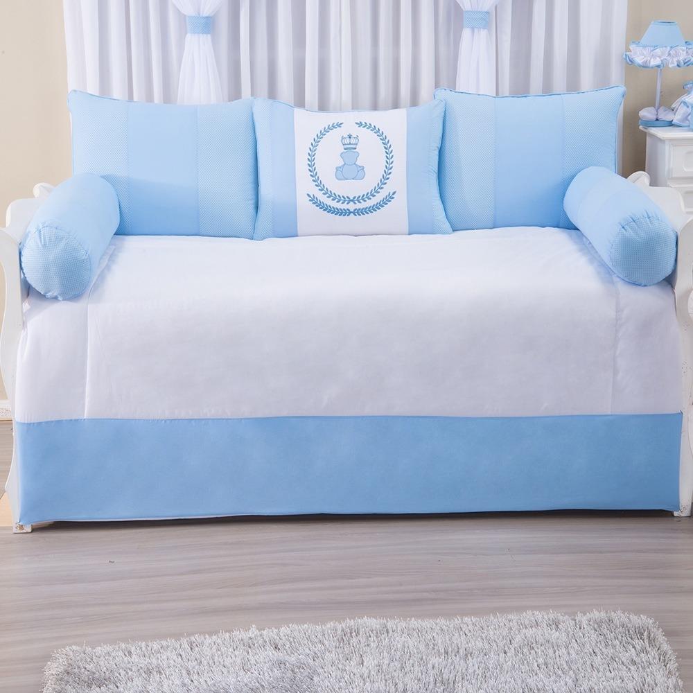 Kit Cama Babá Império Azul Bebê