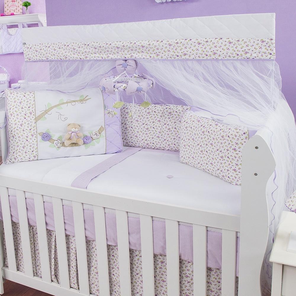Kit Berço Primavera Baby Lilás