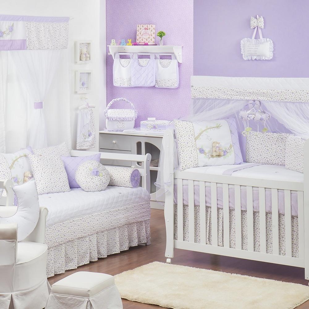 Quarto para Bebê Primavera Baby Lilás