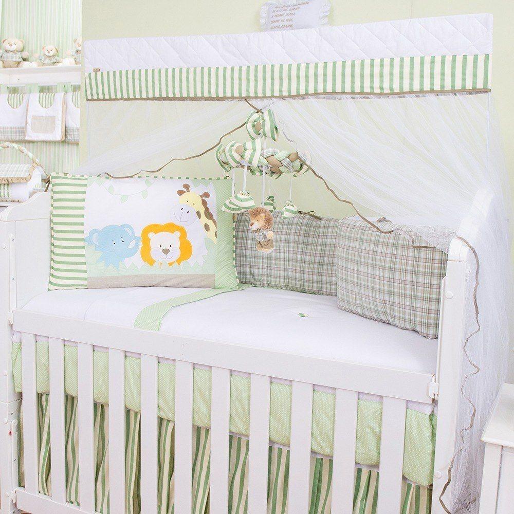 Kit Berço Selva Baby Verde