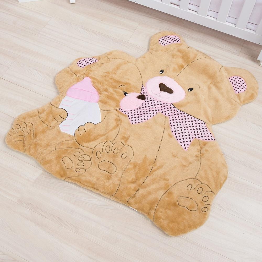 Tapete Mamãe Ursa Rosa