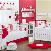 Quarto para Bebê Borboletas Vermelha