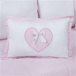 Almofada Decorativa Coração Sweet Bear Rosa
