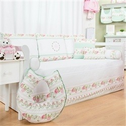 Kit Cama Babá Bouquet Rosa