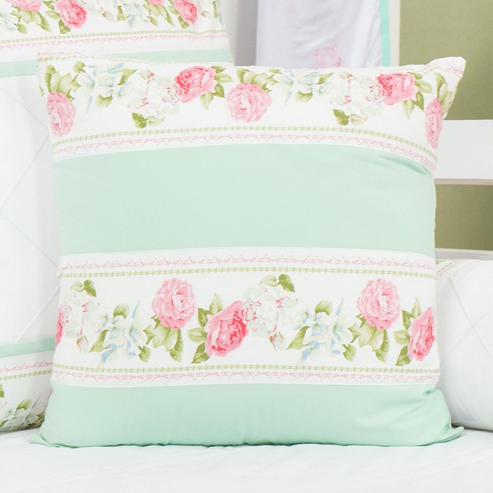 Almofada Decorativa Repartições Bouquet Rosa