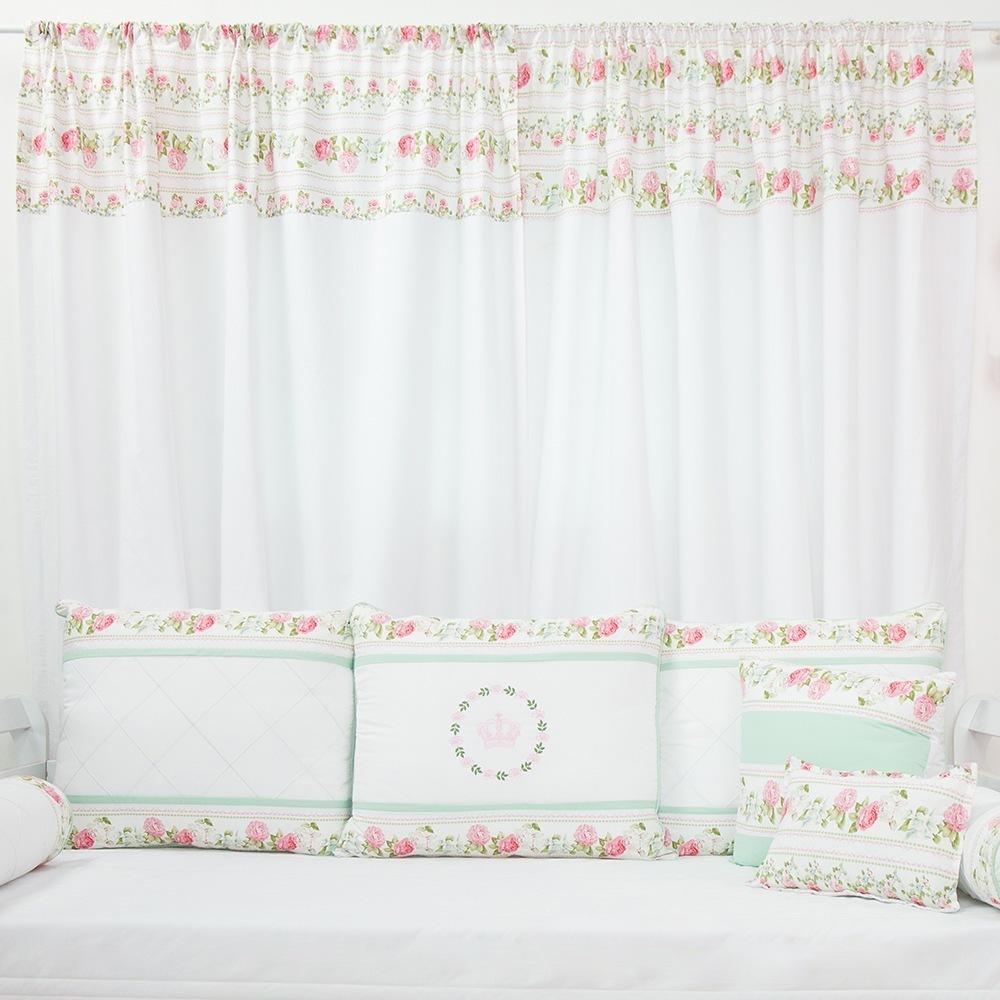 Cortina Bouquet Rosa